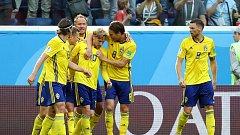 Švédsko slaví postup do čtvrtfinále.