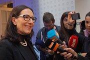 Alexandra Udženija ve volebním štábu ODS