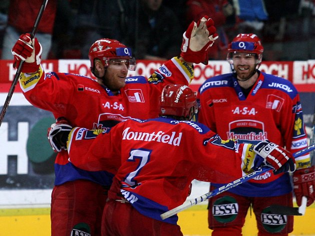 Budou se hokejisté českobudějovického Mountfieldu takto radovat i v Lize mistrů?