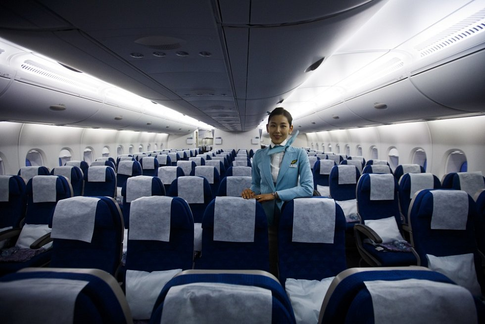 Na Letiště Václava Havla Praha přístálo 14. března největší dopravní letadlo světa Airbus A380 Korean Air.