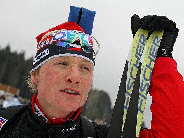 Biatlonista Ondřej Moravec.