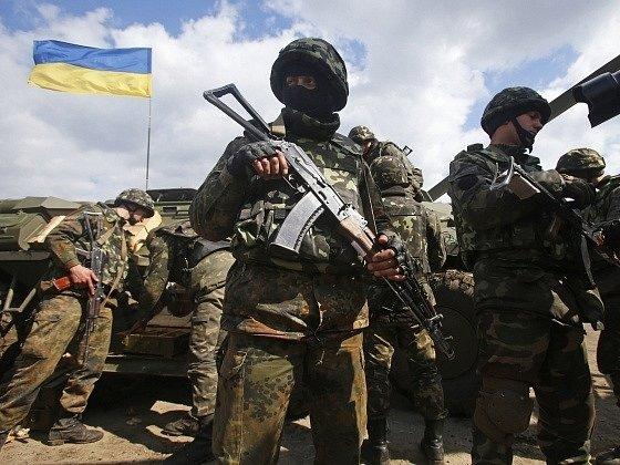 Ukrajinské vojenské jednotky. Ilustrační foto