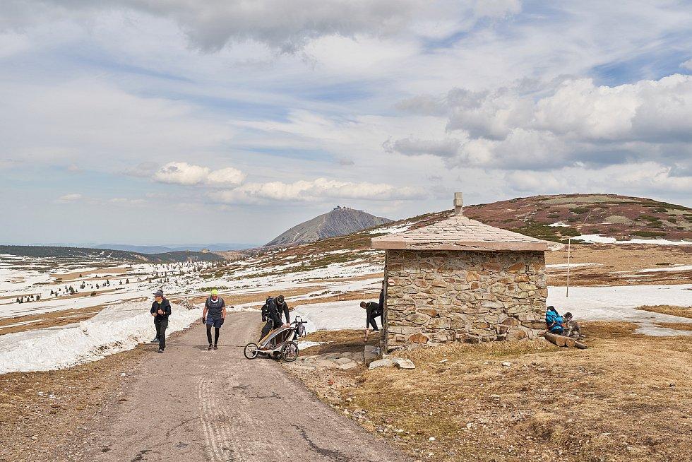 Výlet do hor, turistické túry v Krkonoších.