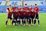 Utkání mistrovství Evropy do 21 let mezi Českem a Itálií