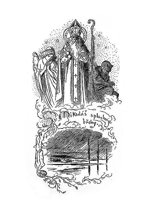 Mikulášská pranostika v podání malíře Mikoláše Alše