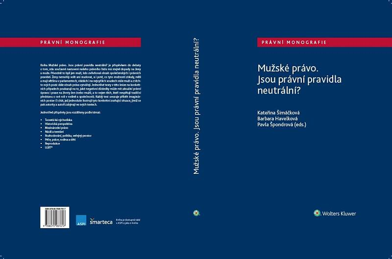 Obálka čerstvé knihy Mužské právo.