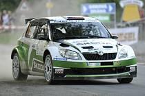 Jan Kopecký na Rallye Hustopeče.