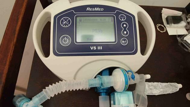 Plicní ventilátor. Ilustrační foto.
