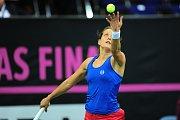 Tenisové finále FedCupu mezi Českou republikou a USA 10. listopadu v Praze. Barbora Strýcová.