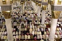 Prorokova mešita v Medíně, kde působil prorok Mohamed před odchodem do Mekky.