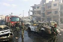 Při dvojím atentátu dnes v centru syrského Homsu zahynulo nejméně 46 lidí.