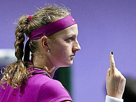 Petra Kvitová si na Turnaji mistryň připsala první výhru.