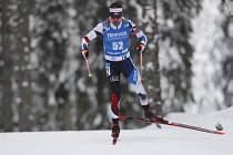 Český biatlonista Michal Krčmář na trati sprintu na MS.