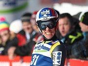 Dopolední nedělní závod(3. února) SP v letech na lyžích v Harrachově. Jan Matura