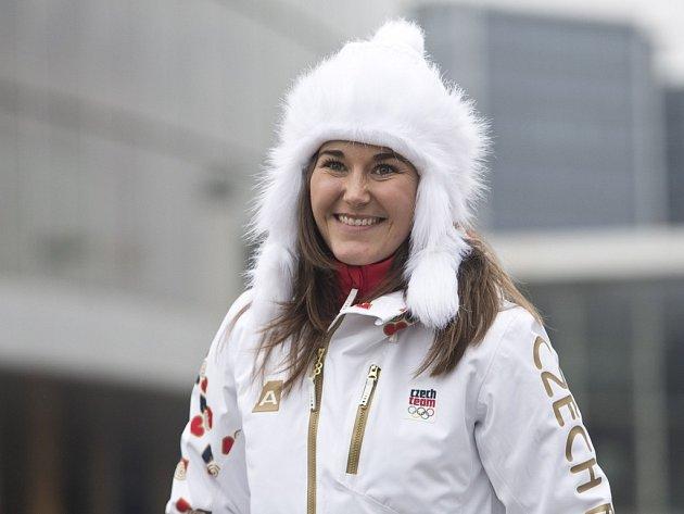 Šárka Strachová je na olympiádu připravená - už navlékla olympijskou kolekci