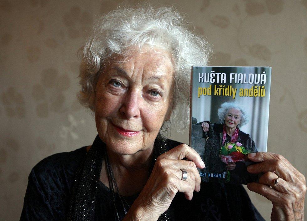 Herečka Květa Fialová.