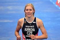 Petra Kuříková při ME v triatlonu