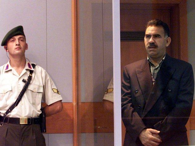 Vězněný vůdce kurdských separatistů Abdullah Öcalan.