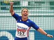 Česká oštěpařka Barbora Špotáková během kvalifikace na mistrovství světa v Berlíně.