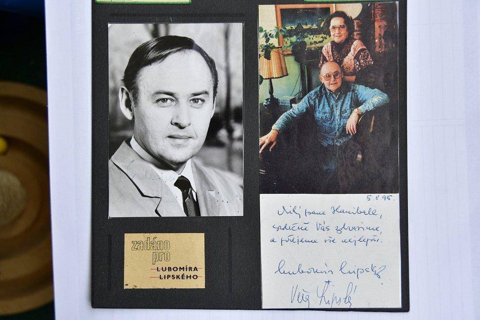 Autogram herce Lubomíra Lipského.