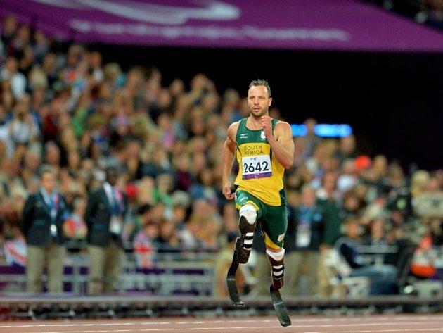Oscar Pistorius na paralympijských hrách v Londýně.