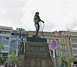 Nová socha na Václavském náměstí.