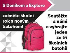 Zapojte se s námi do soutěže a vyhrajte jeden ze tří školních batohů.