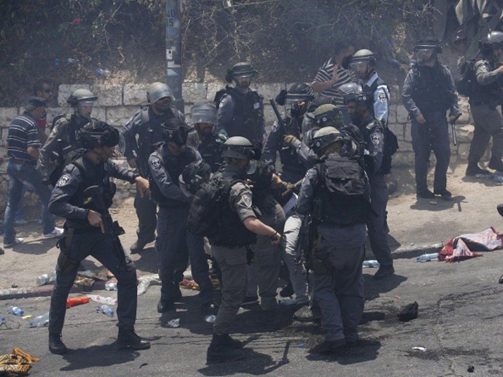 Násilné střety v Jeruzalémě.