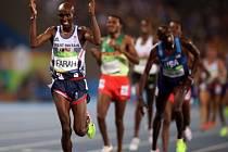 Farah zopakoval na OH double, ovládl i běh na 5000 m