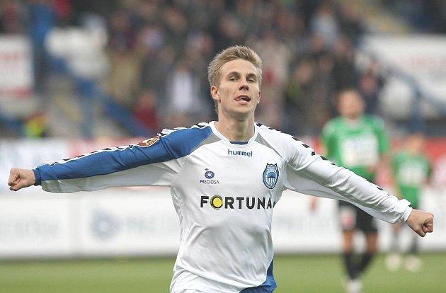 Liberecký Bořek Dočkal se raduje z gólu.