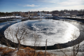 Zvláštní ledový úkaz v Maine