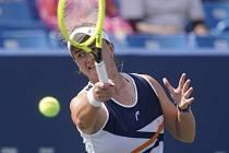 Česká tenistka Barbora Krejčíková ve čtvrtfinále turnaje v Cincinnati.