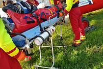 Alergika musel z Velkého Boru transportovat vrtulník. Foto: ZZS