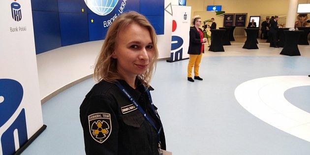 Ukrajinská průvodkyně po Černobylu Oksana Taranová