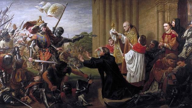 Obraz Richarda Burchetta Azyl z roku 1867 zachycuje scénu, kdy se kněží snaží zastavit vítězného Eduarda IV. před prolitím krve lancasterských, kteří po prohrané bitvě hledali v kostele útočiště. Eduard dal všechny lancasterské velitele hromadně popravit