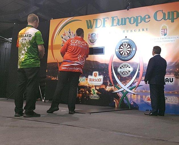 Čeští šipkaři na mistrovství Evropy. Ilustrační snímek