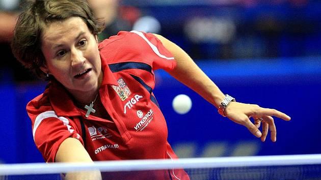 Renáta Štrbíková na mistrovství Evropy ve stolním tenise - ilustrační foto.
