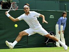 Roger Federer si zahraje wimbledonské osmifinále.