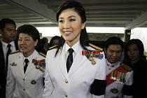 Jinglak Šinavatrová v době, kdy byla thajskou premiérkou