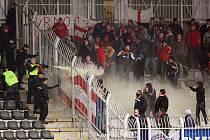 Brněnští fanoušci způsobili v Jablonci škodu vyšší než sto tisíc korun.
