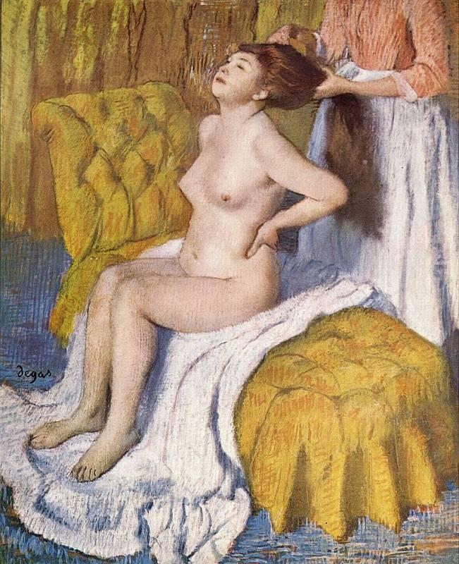 Edgar Degas, Žena s česanými vlasy, 1885