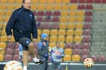 Rafael Benítez při tréninku Neapole na Spartě