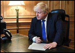 Boris Johnson, nyní už bývalý ministr zahraničí Velké Británie.