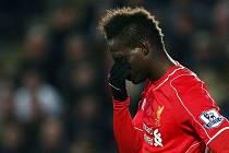 Zklamaný Mario Balotelli z Liverpoolu.