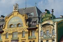 Secesní hotel Evropa na pražském Václavském náměstí.