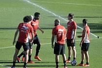 Belgičané při tréninku