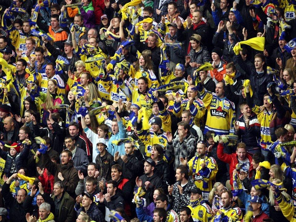 Hokejoví fanoušci Zlína ve finále extraligy.