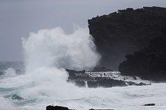 Hurikán Lane zeslábl na tropickou bouři