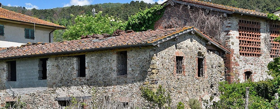 Bývalá továrna v toskánské Lucce