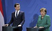 Sebastian Kurz a Angela Merkelová